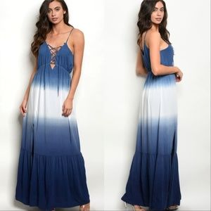 Boho Beauty Maxi Dress - Ombre Tie Dye